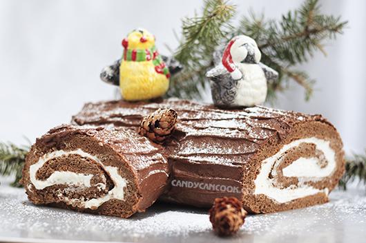 Sản phẩm ra lò nhìn đáng yêu và hấp dẫn - Bánh khúc gỗ Giáng sinh