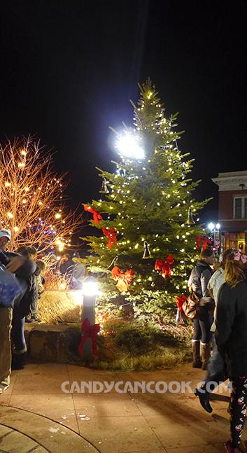 Tìm mãi cũng được một góc ít người nhất để chụp cây thông Noel