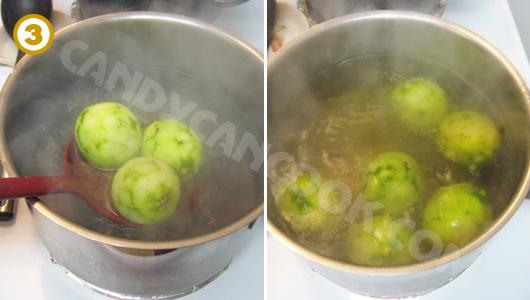 Trần chanh vào nước muối phèn chua