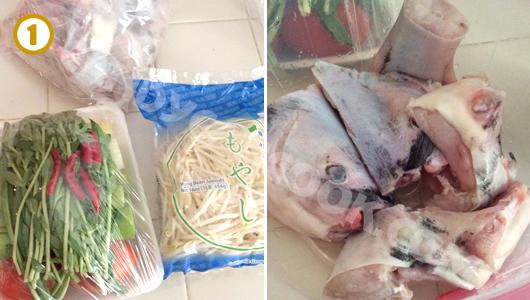 Nguyên liệu nấu canh chua cá