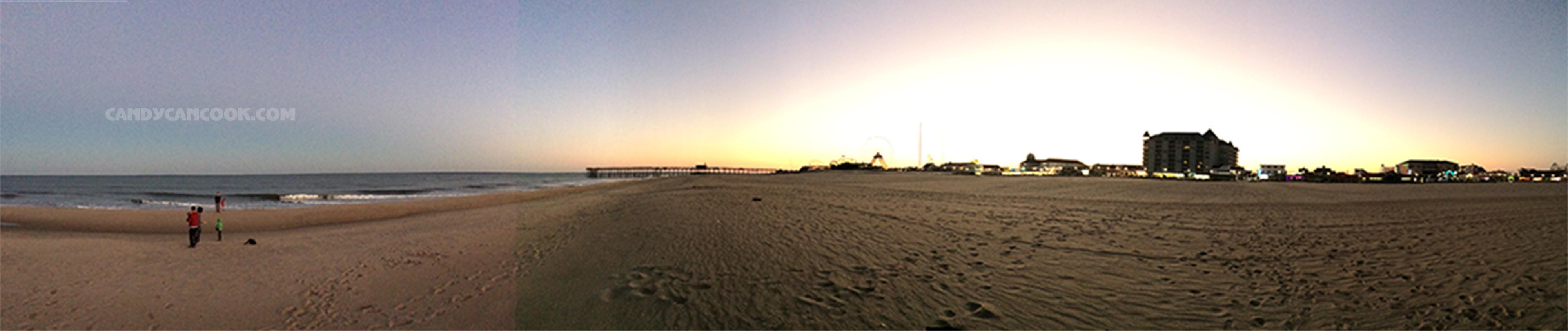 Khoảnh khắc hoàng hôn trên biển Ocean City