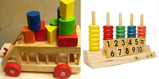 Hấp dẫn đồ chơi gỗ an toàn cho bé