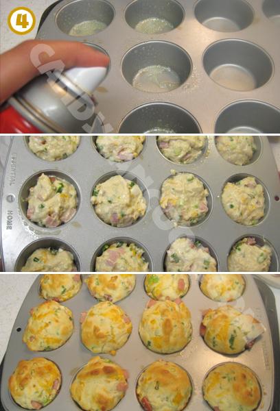 Chuẩn bị khuôn và nướng bánh