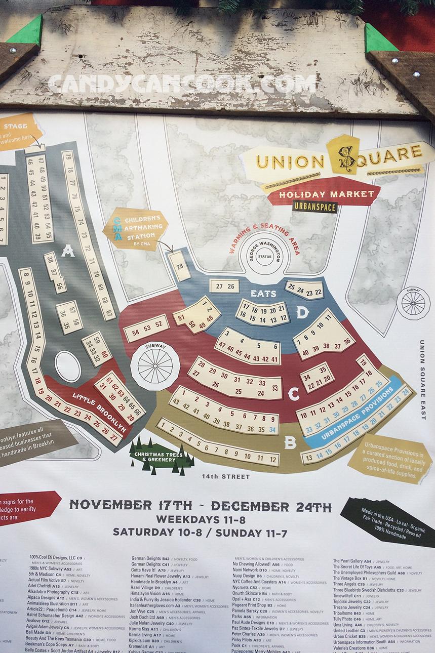 Sơ đồ của hội chợ Tết - Holiday market ở Union Square