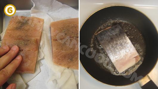 Cách rán cá hồi ngon