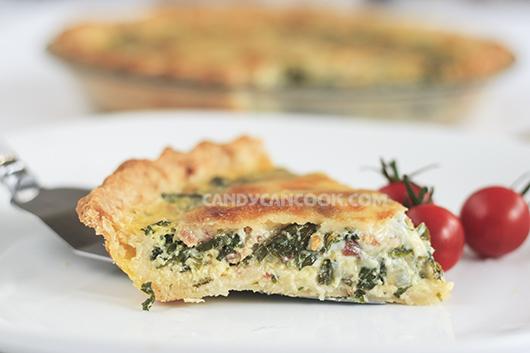Nhìn bánh Kale quiche mà đã thấy nức mũi :)