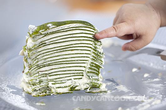 Trái tim nhiều ngăn cũng giống như Bánh crepe trà xanh nhiều lớp thể hiện tình yêu đong đầy