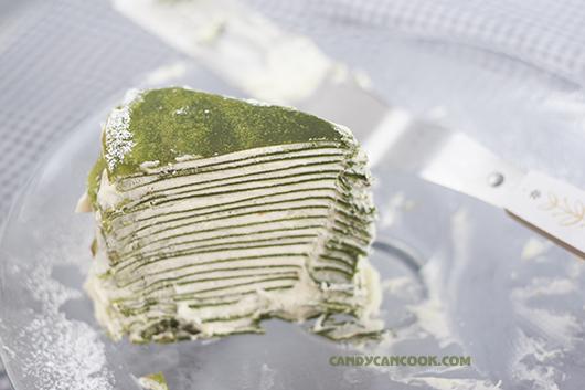 Vị trà xanh Matcha và kem tươi sẽ làm nên điều kì diệu của Bánh crepe ngàn lớp
